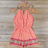 Sunstone Romper in Red: Alternate View #1