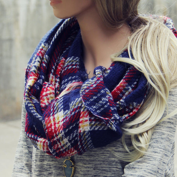 Sweater Weather Plaid Scarf: Featured Product Image