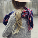 Sweater Weather Plaid Scarf: Alternate View #2