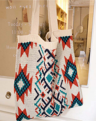 Sweater Knit Tote in Montana