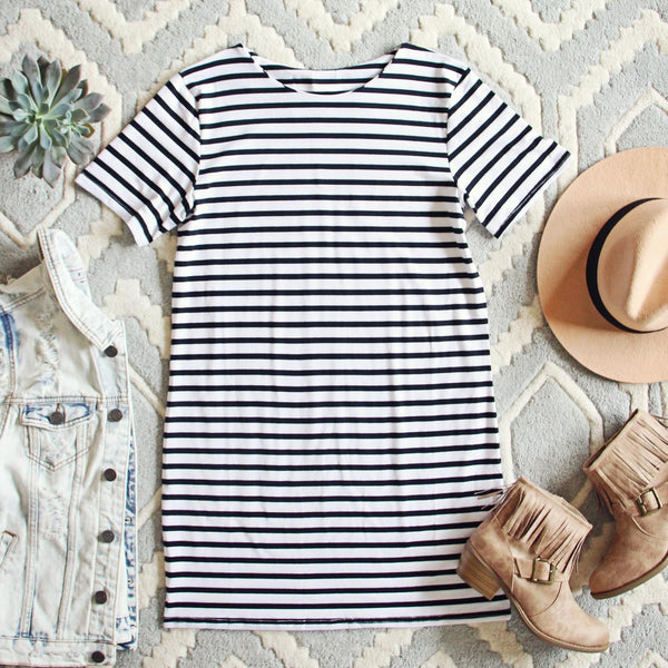 Sweet & Basic Stripe Dress: Featured Product Image