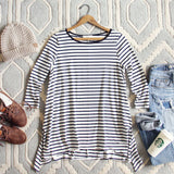 Sweet & Basic Stripe Tee: Alternate View #1