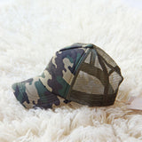 Sweet Camo Hat: Alternate View #1