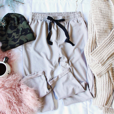 Sweet Cuff Joggers in Taupe