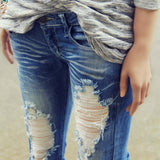 Sweet & Torn Jeans: Alternate View #1