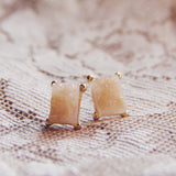 Sweet Druzy Earrings in Peach: Alternate View #1