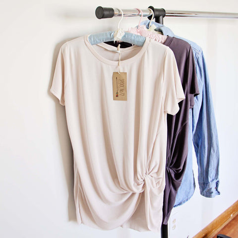 Sweet Knot Tee in Cream