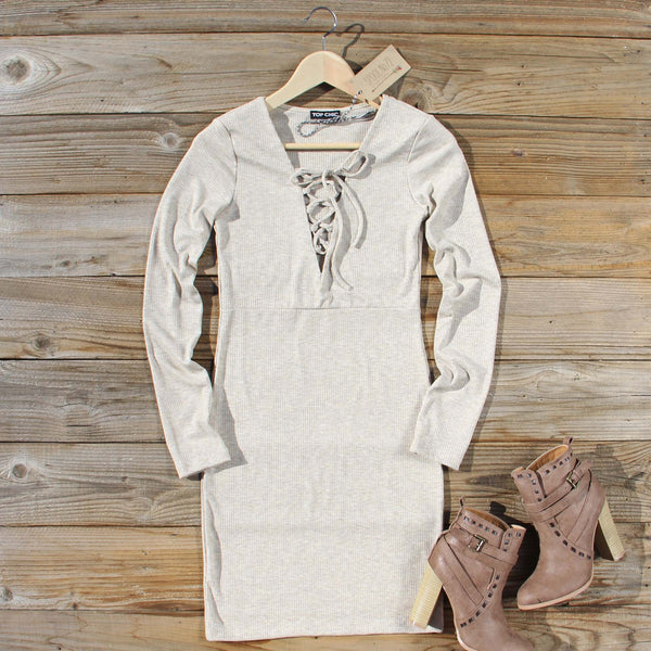 Sweet Lace-up Dress: Featured Product Image