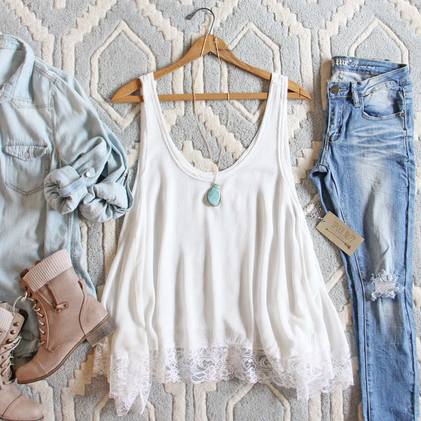 Sweet Lace Layering Tank: Featured Product Image