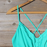 Sweet Nectar Romper in Sea: Alternate View #2
