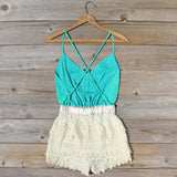 Sweet Nectar Romper in Sea: Alternate View #4