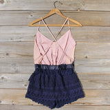 Sweet Nectar Romper in Dusty Rose: Alternate View #4