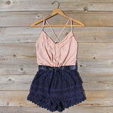 Sweet Nectar Romper in Dusty Rose: Alternate View #1