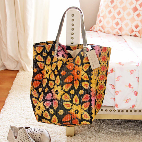 Sweet Stitch Tote in Mustard