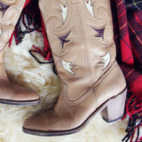 Sweet Stitch Vintage Boots: Alternate View #2