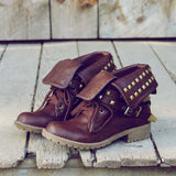 Sweet Studded Motorcycle Boots: Alternate View #1