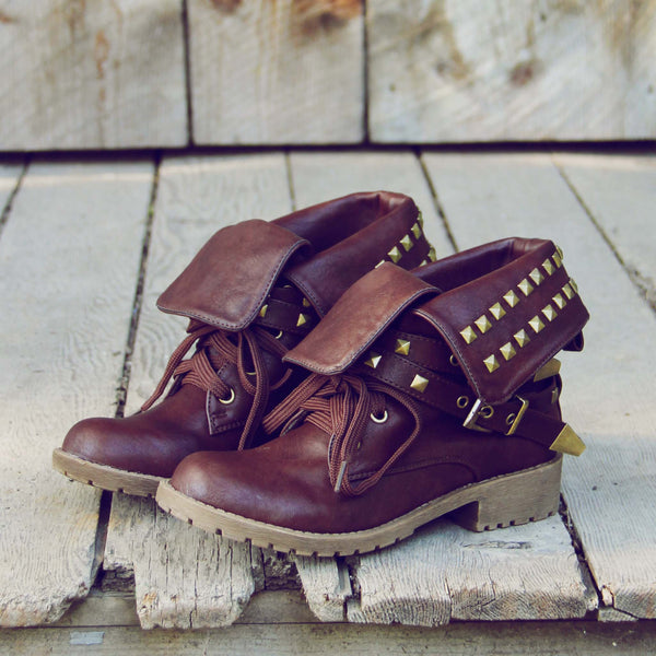 Sweet Studded Motorcycle Boots: Featured Product Image