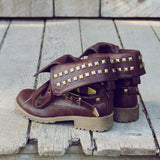 Sweet Studded Motorcycle Boots: Alternate View #2