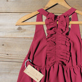Sweet Thicket Ruffle Top in Wine: Alternate View #3