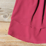 Sweet Thicket Ruffle Top in Wine: Alternate View #4