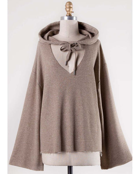Sweet Tie Sweatshirt in Taupe: Featured Product Image