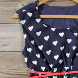 The Sweetheart Dress in Navy: Alternate View #2
