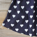 The Sweetheart Dress in Navy: Alternate View #3