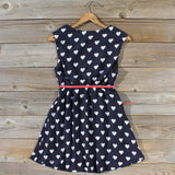 The Sweetheart Dress in Navy: Alternate View #4