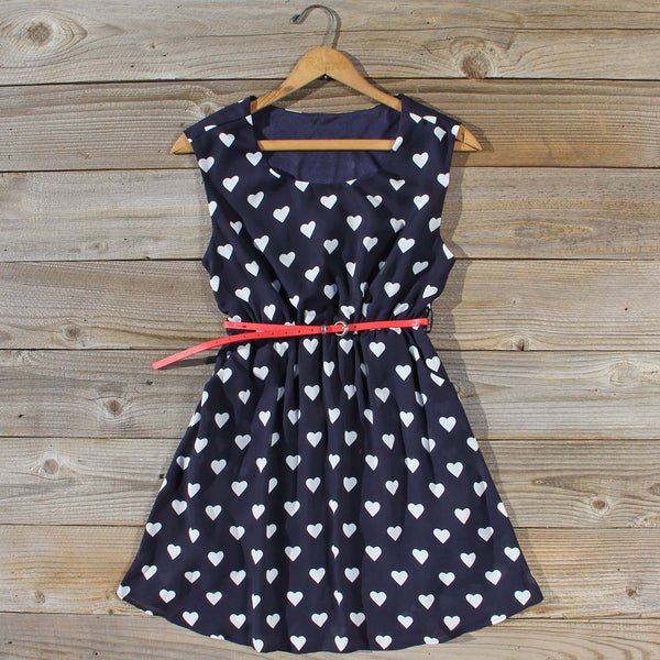 The Sweetheart Dress in Navy: Featured Product Image