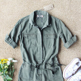 Sweetly Olive Romper: Alternate View #2