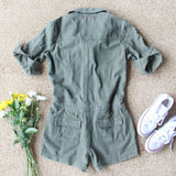 Sweetly Olive Romper: Alternate View #4