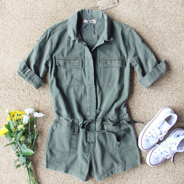 Sweetly Olive Romper: Featured Product Image