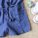 Sweetly Olive Romper in Navy: Alternate View #3