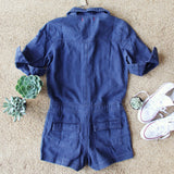 Sweetly Olive Romper in Navy: Alternate View #4