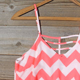 Sweetvine Chevron Romper in Pink: Alternate View #2