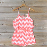 Sweetvine Chevron Romper in Pink: Alternate View #1
