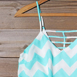Sweetvine Chevron Romper in Turquoise: Alternate View #2