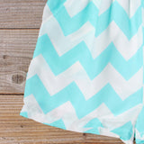 Sweetvine Chevron Romper in Turquoise: Alternate View #3