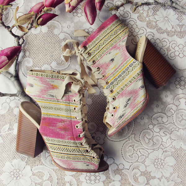 Swoon Lace-up Booties: Featured Product Image