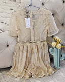 Tainted Rose Lace Romper in Sand: Alternate View #4