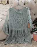 Tainted Rose Lace Top in Sage: Alternate View #5