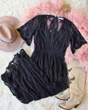 Tainted Rose Lace Maxi Dress in Black: Alternate View #3