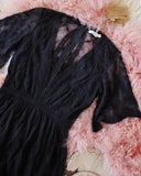 Tainted Rose Lace Maxi Dress in Black: Alternate View #4