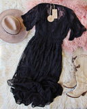 Tainted Rose Lace Maxi Dress in Black: Alternate View #5
