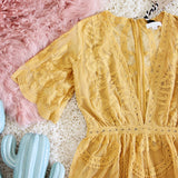 Tainted Rose Lace Romper in Mustard: Alternate View #2