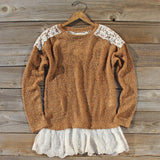 Tamarack Lace Sweater: Alternate View #1