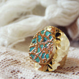 Tangled Turquoise Ring in Gold: Alternate View #2