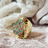 Tangled Turquoise Ring in Gold: Alternate View #1
