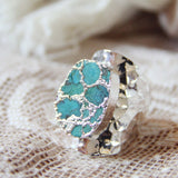 Tangled Turquoise Ring in Silver: Alternate View #2