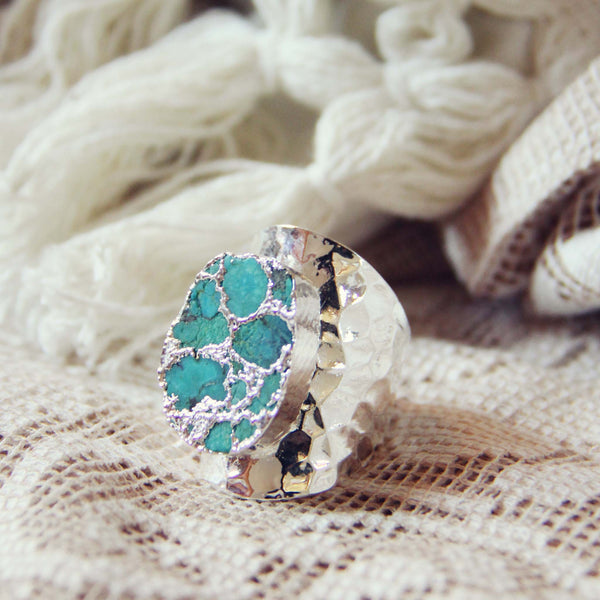Tangled Turquoise Ring in Silver: Featured Product Image